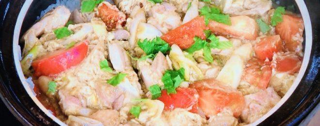 笠原将弘の土鍋トマト親子丼