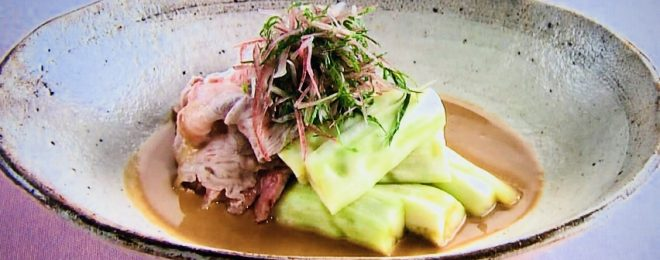 ナスと豚肉の温サラダ