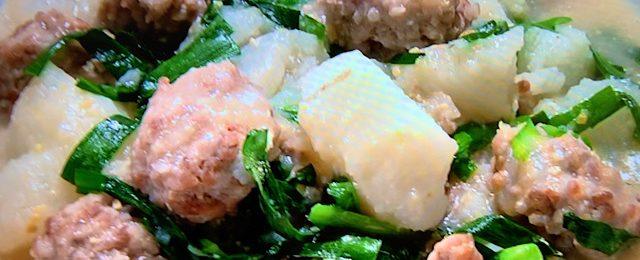 豚ひき肉と長芋のみそ煮